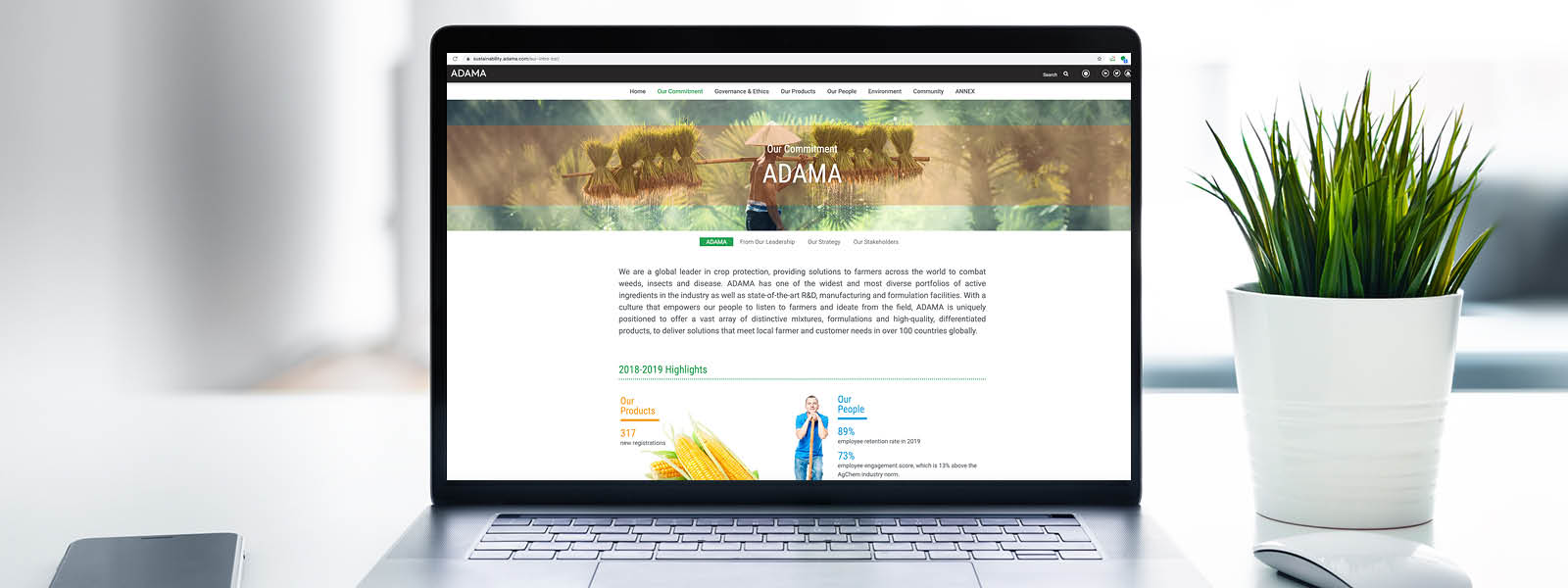 ADAMA Online Sustainability Report 2018-2019