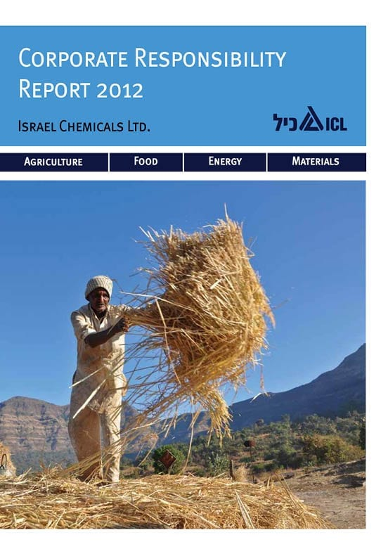 ICL Corporate Responsibility report 2012