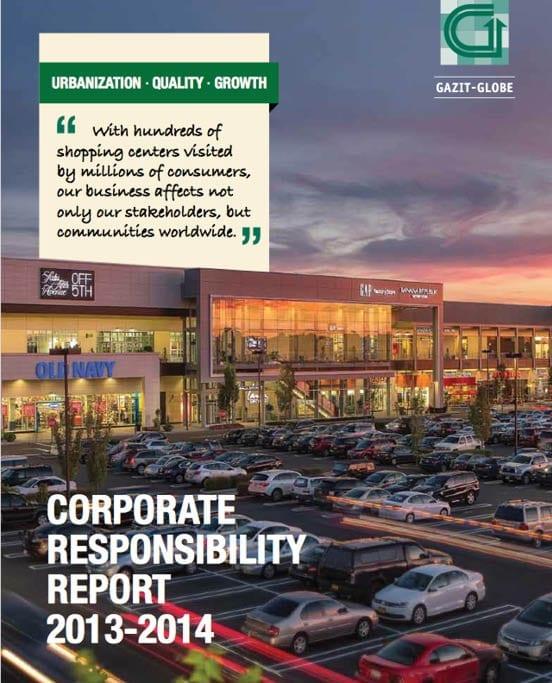 Sustainability and Corporate report Gazit Globe