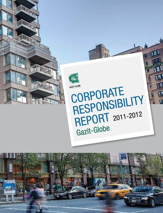 Gazit Globe Corporate Responsibility report 2012-2013